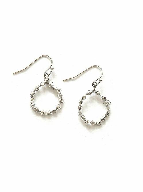 Little Beaded Loop Earrings