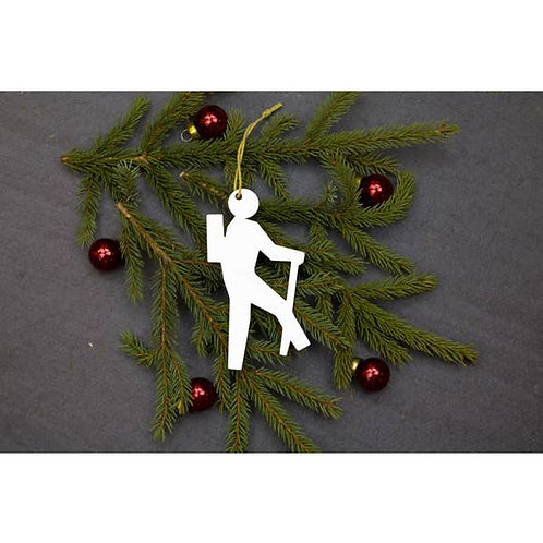 Hiker Metal Ornament
