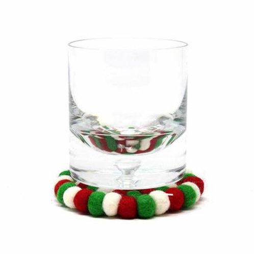 Multicolor Coasters 4pk - White Christmas