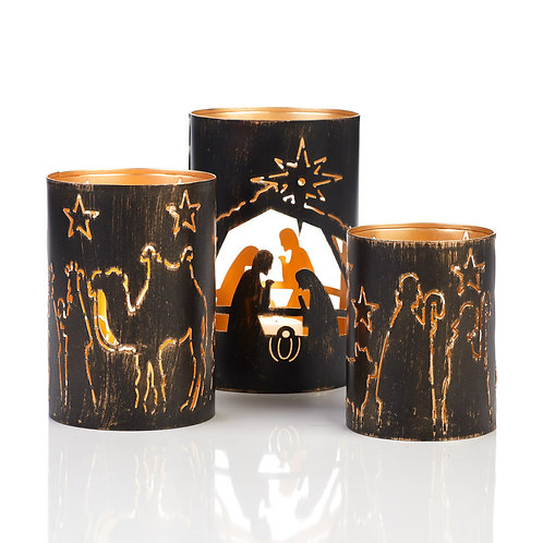 Nativity Story Lanterns Set of 3