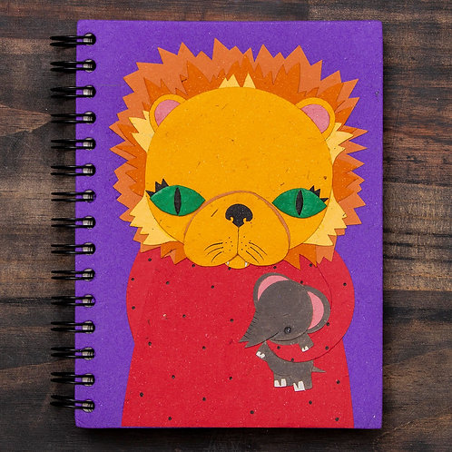 Large Notebook Leslie Lion