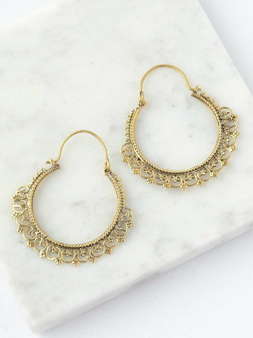 Paint Me Gold Earrings