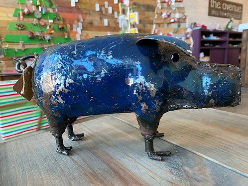 Metal Painted Pig Medium
