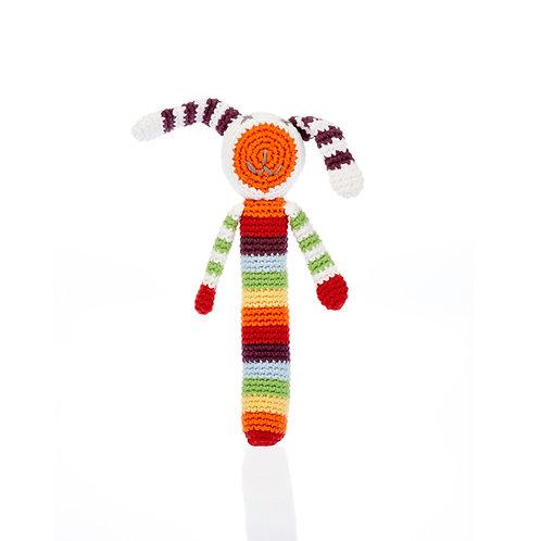 Rainbow Bunny Stick Rattle