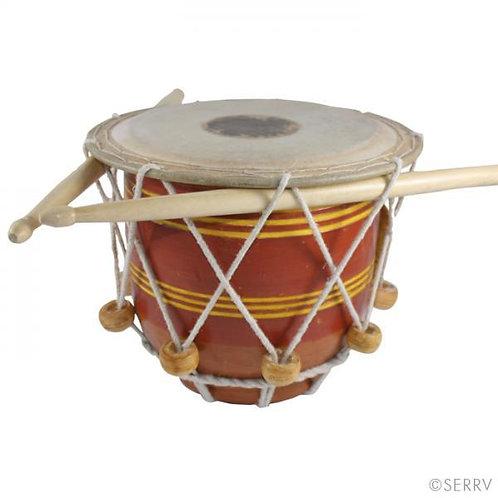 Striped Terra Cotta Drum