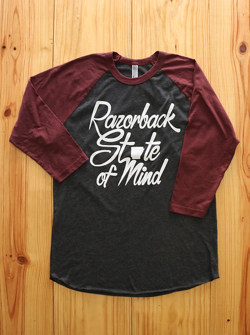 Razorback State of Mind Baseball Tee