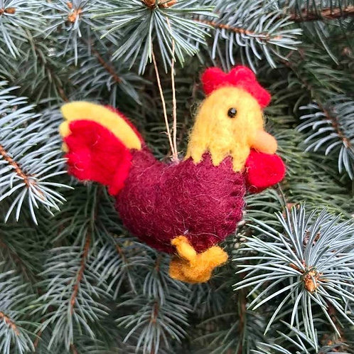 Wool Rooster Ornament