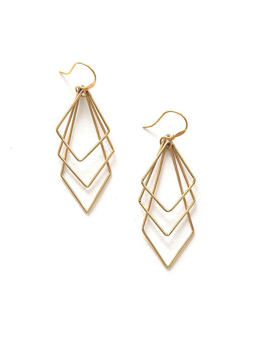 Prominent Paragon Earrings Brass