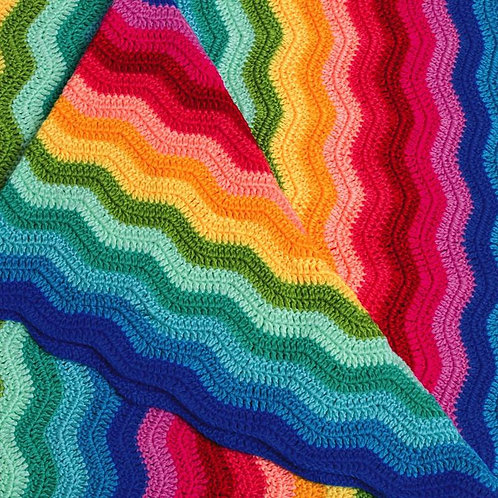 Ripple Rainbow Baby Blanket
