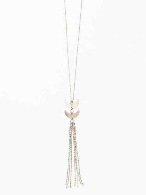 Twilight Tassel Necklace Silver