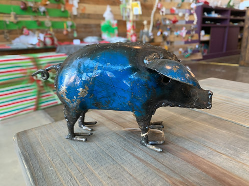Metal Painted Pig Small