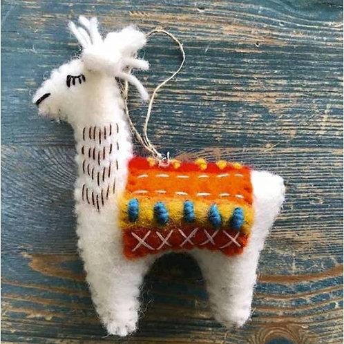 Wool Llama Ornament