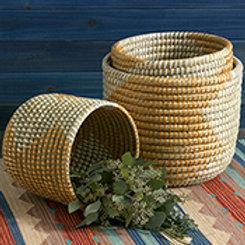 Golden Grass Basket Set