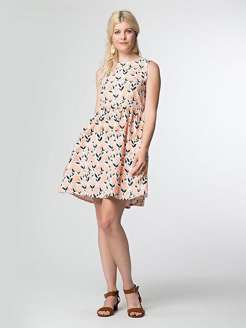 Dilly Dally Dress Peach Iris