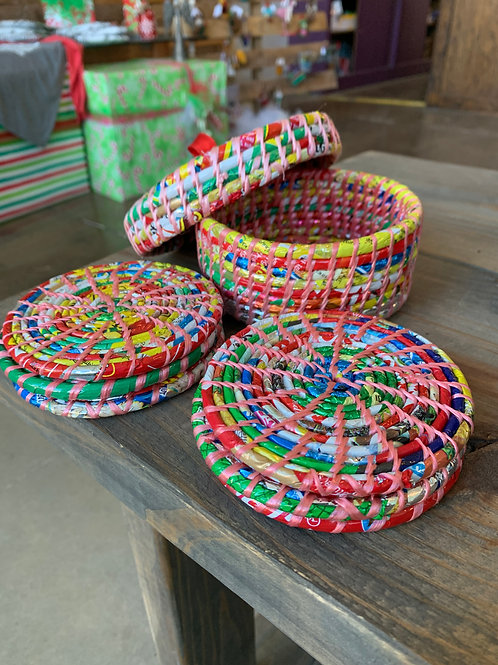 Wrapped Coasters Set of 6