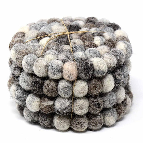 Felt Ball Coasters 4 Pack