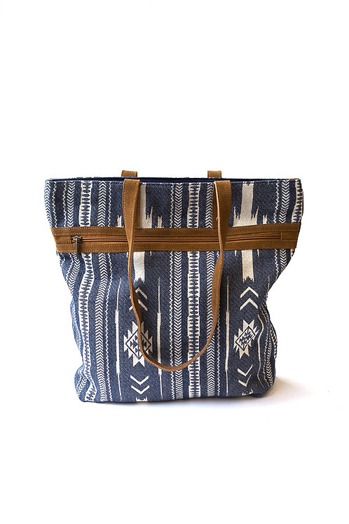 Rover Patterned Purse Blue