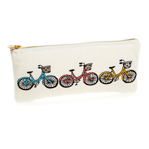 Small Bicycle Trio Zipper Pouch