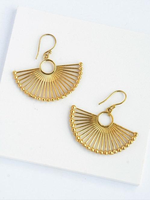 Palm Leaf Fan Earrings
