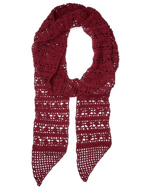 Crocheted Skinny Scarf