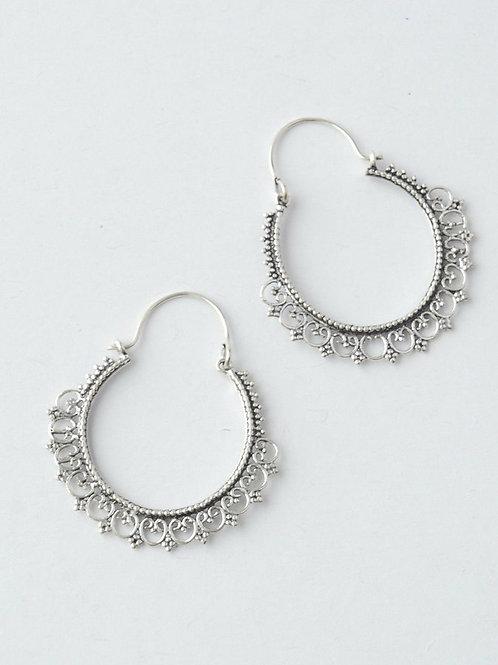 Paint Me Silver Earrings