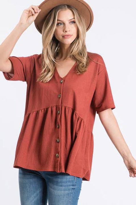 Babydoll Top with Buttons