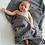 Thumbnail: Grey Ripple Baby Blanket