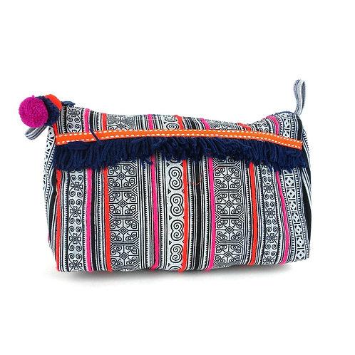 Hmong Batik Cosmetic Bag Large