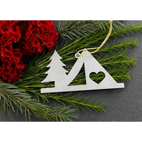 Camping Metal Ornament