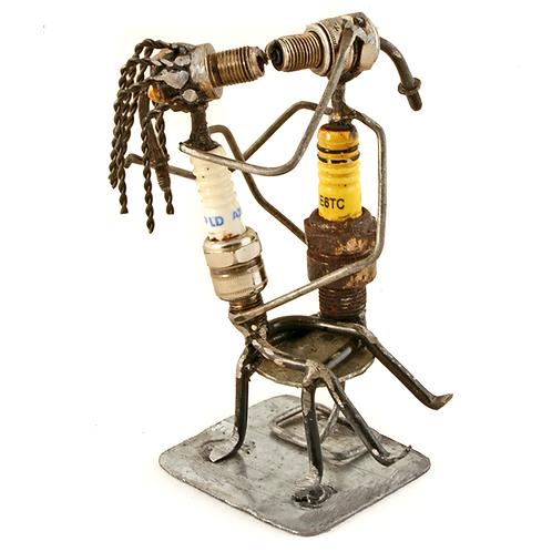 Smooching Spark Plug Sculpture