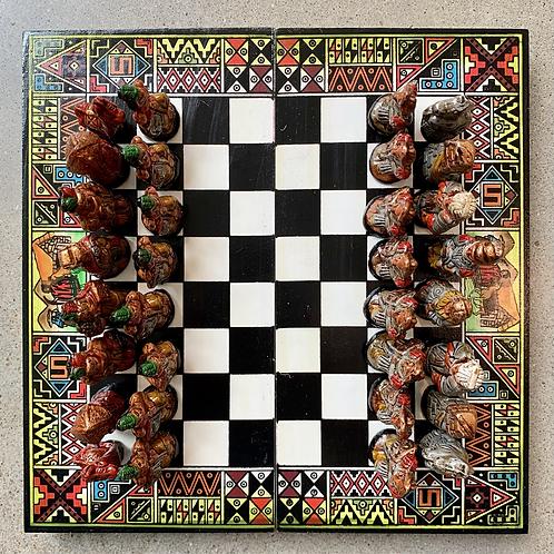 Small Chess Set Green Tones