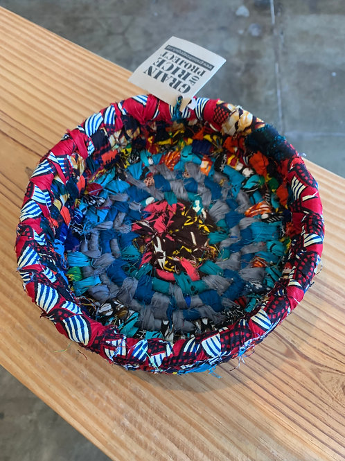 Medium Fabric Bowl Blue and Red