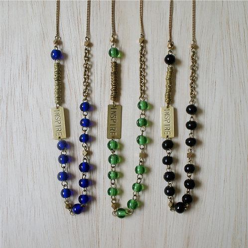Inspire Necklace Blue