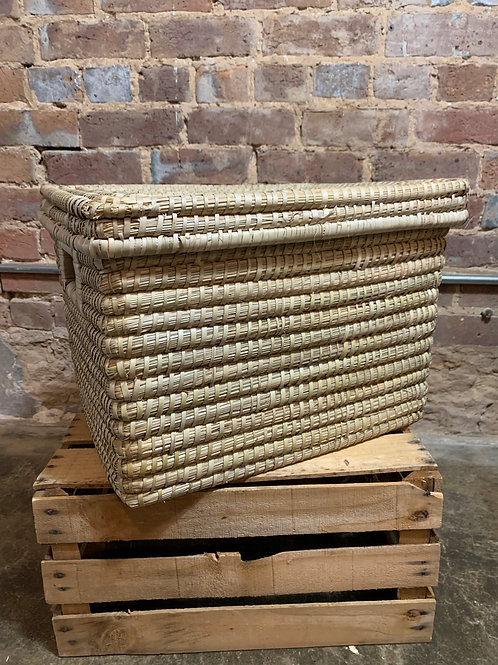 Kaisa Grass Basket with Lid XLarge