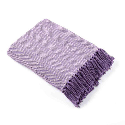 Rethread Throw Lavender Herringbone