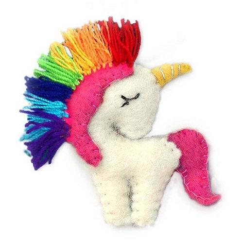 Felt Rainbow Unicorn Key Chain