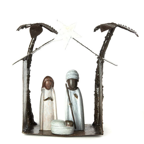 Springstone and Metal Nativity