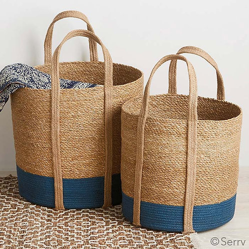 Two-Tone Large Floor Tote