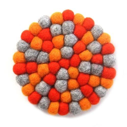 Round Felt Ball Trivet