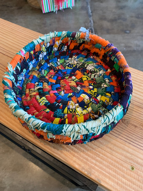Large Fabric Bowl Bright Colors