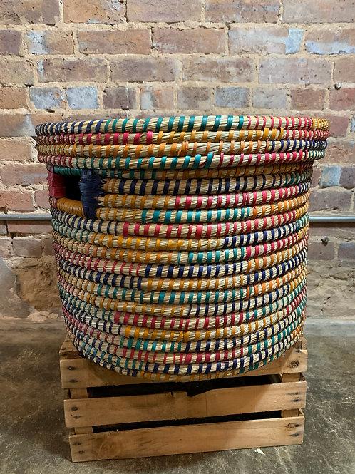 Round Rainbow Basket Large