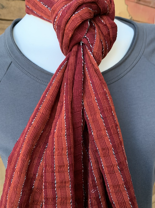 Red Woven Scarf
