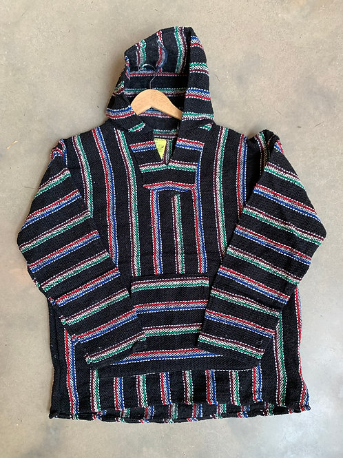 Baja Hoodie Black and Multi XL