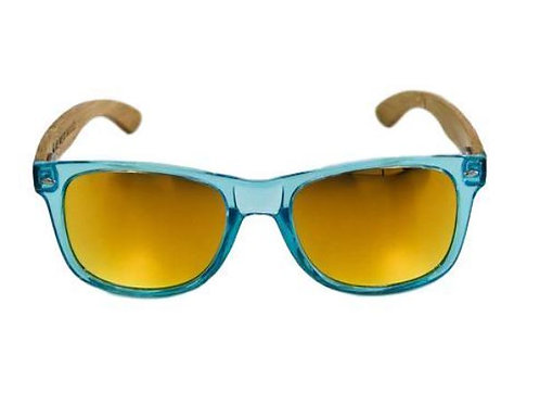 Ocean Blue Bamboo Sunglasses