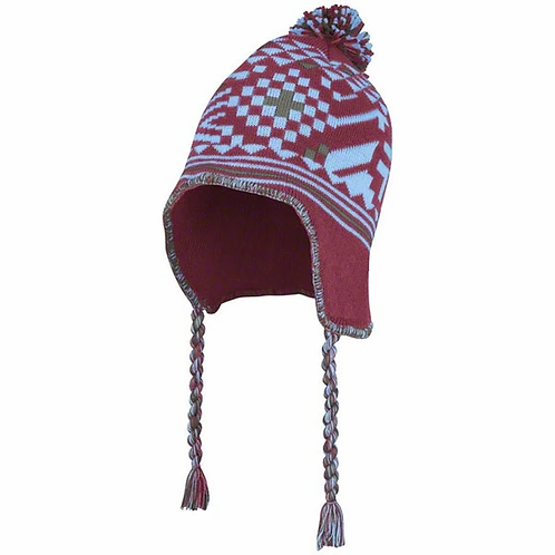 Burgundy and Blue Chullo Hat