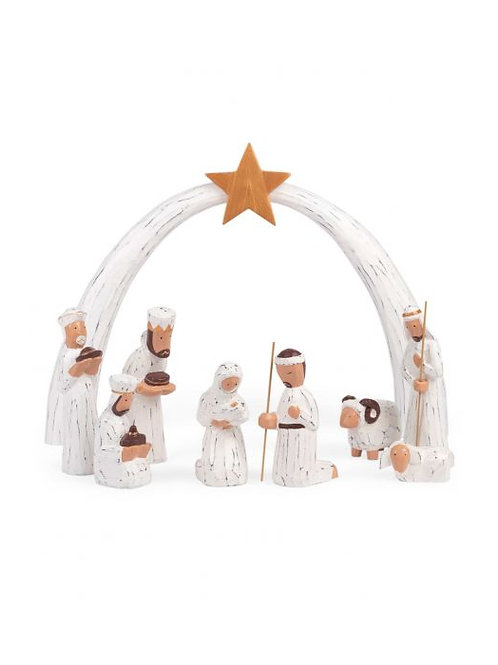 Whitewashed Albizia Nativity