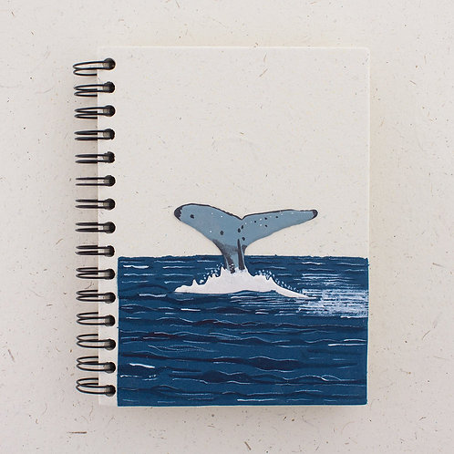 Large Notebook Whale Tail
