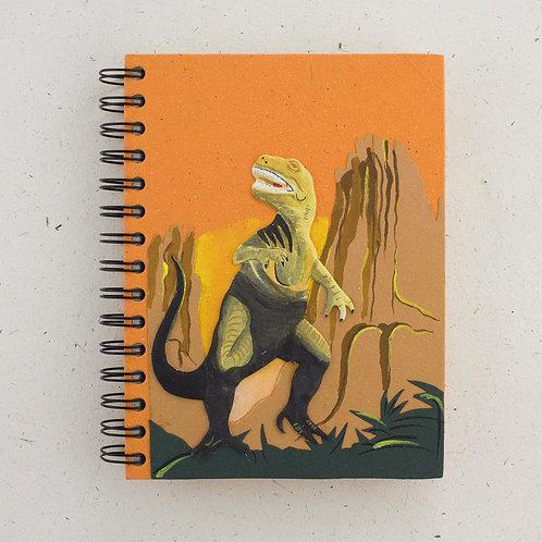 Orange T-Rex Notebook