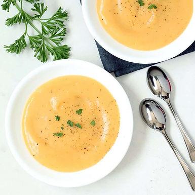 Creamy Roasted Garlic Potato Soup