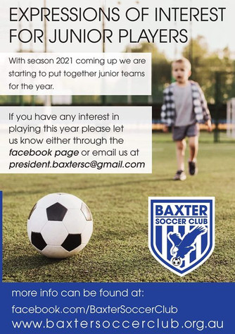 PLAYERS WANTED FOR JUNIOR TEAMS